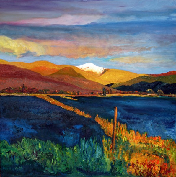 David Sipp, Llano de la Yegua, NM David Sipp Montanas Gloriosas Oils 10 596x600