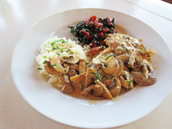A Great Holiday Supper: Taragon Chicken With Mushrooms IMG 1070 600x450
